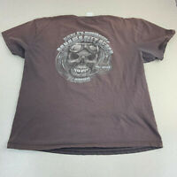 Harley Davidson T-shirt Mens XL Brown Skull Graphic Short Sleeve  Panama Beach