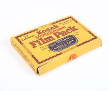 KODAK EMPTY BOX FOR 3-1/4 X 4-1/4 VERICHROME FILM PACK MAY 1934/cks/198631