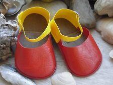 Große Puppenschuhe rot -gelb Stolle 70er Jahre Größe 13 /70 Länge 10,5 cm