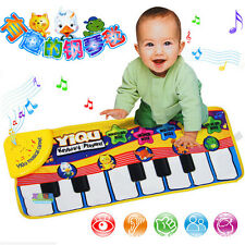 New Musical Music Kid Piano Play Baby Mat Animal Educational Soft Kick Toy.