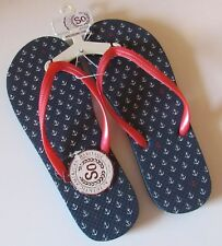 NWT LADIES PINK AMERICANA ANCHOR SONONA FLIP-FLOPS  SIZE M 7/8