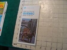HIGH GRADE Vintage brochure/map QUEBEC access to the city 1975