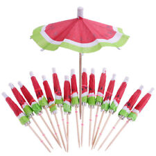 140x3D Watermelon Beach Party Umbrella Cocktail Parasol Picks Sticks Decor
