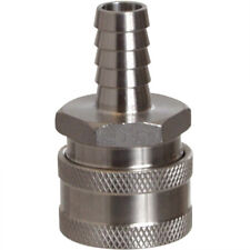 """1/2"""" Female Quick Disconnect 304 Stainless Steel 1/2"""" Barb Homebrew"""