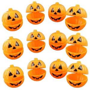 12Pcs Halloween Pumpkin Shape Mini Storage Box Plastic Candy Case Gift Holder