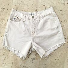 GUESS JEANS USA Vintage High Waisted Cutoff Shorts Size 29 Off White