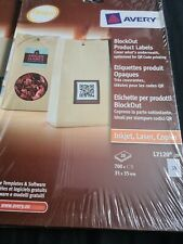 Avery L7120-20 Block Out Product Labels QR Code Printing 700 Labels Sealed NEW