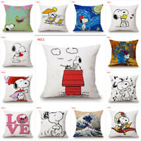 Cute Snoopy Dog Pillow Car Sofa Waist Cushions Cover Anime Home Decor Pillowcase