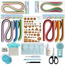 JUYA Paper Quilling Kit with Blue Tools 960 Strips Board Mould Crimper Coach Com