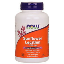 Lecithin, Sunflower, 1200mg x 100 Softgels - NOW Foods