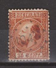 NVPH Netherlands Nederland 9 TOP CANCEL THOLEN 104 1867 3e emissie Willem III