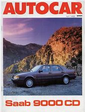 Saab 9000 CD Road Test 1988-89 UK Market Sales Brochure Autocar