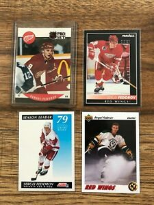 Sergei Fedorov 8 Card RC Lot 1990-07 UD Card Red Wings CCCP HOF #9 SP Columbus