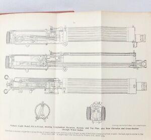 WW1 1917 BOOK OF THE MACHINE GUN HANDBOOK VICKERS MAXIM LEWIS HOTCHKISS MANUAL