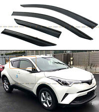 FOR 2017-2018 TOYOTA C-HR SMOKE TINTED WINDOW VISOR VENT SHADE GUARD W/ CLIPS