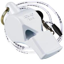 WHITE Fox 40 PEARL Whistle Official Coach Safety Alert Rescue FREE LANYARD