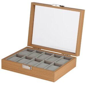 Luxury 1/2/6/10/12 Grids Nature Wooden Case Watch Jewelry Storage Box Holder