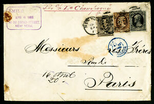 US Stamps # 190 Affixed to Cover to Paris via S.S. Champagne
