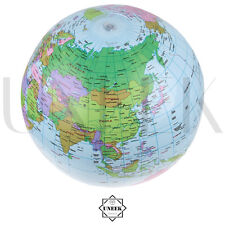 "16"" Inflatable Blow Up Globe World Map Atlas Ball Educational Planet Earth Ball"