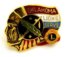 Pin Spilla Lions International Oklahoma Lions Serve cm 2,6 x 2,2