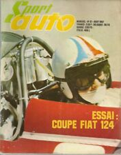 SPORT AUTO 67 1967 ESSAI FIAT 124 COUPE ESSAI SUNBEAM IMP SPORT + CHAMOIS RALLY