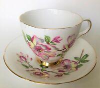 vintage Old Royal - pink dogwood (2781) teacup & saucer