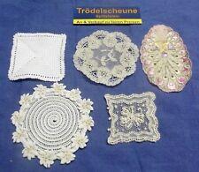 Convolute 3/Antique Textiles Doily for The Doll's House Handmade Um 1900