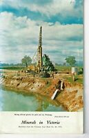 Minerals in Victoria Booklet, reprint from Vict. Y/book  No. 84, 1970 FREEPOST