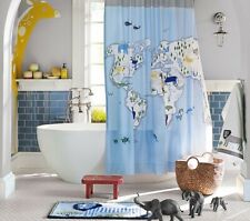 Pottery Barn Kids Animals of the World Shower Curtain Safari