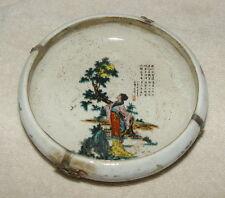 Alte Markierte Chinesisch Porzellan Dosen / Töpfe, mit Silber Dekoration #1012