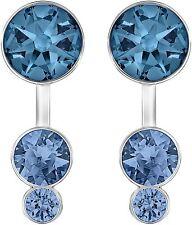 Retired Slake Blue Dot Pierced Earring Jackets Swarovski Jewelry 5201096