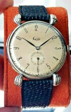VINTAGE ARMY MILITARY WWII SILVER  WATCH SPIDER LUGS ART DECÓ 1940 ZENITH MENS