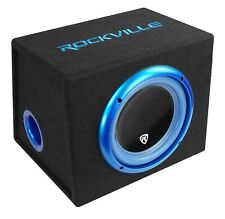 Rockville RVB10.1A 10 Inch 500W Active Powered Car Subwoofer+Sub Enclosure Box