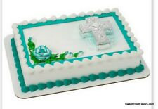 Baptism Cross Cake Decoration Party Supplies TOPPER KIT Christening Religious NW