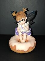 "Enesco My Little Kitchen Fairies~Pink Glazed ""Donut Fairie""~Great Condition!!"