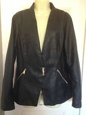 Women's Plus Size Casual Leather Other Coats & Jackets