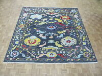 10 x 10 Square Hand Knotted Gray Turkish Knotted Oushak Oriental Rug G8525