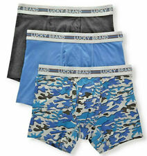 LUCKY BRAND MEN'S BOXER BRIEF BLUE CAMO UNDERWEAR 3 PACK NEW IN BOX