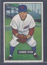 1951 Bowman #216 Connie Ryan Infield Cincinnati Reds EX Plus to EX-MT