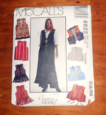 McCall's Pattern #6622 Misses' Vest in three Lengths Size Med 12,14 - New Uncut