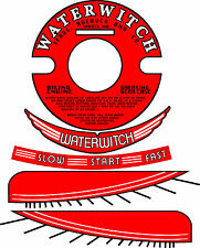 "Vintage antique WATERWITCH OUTBOARD MOTOR Decals 3.5"" Flywheel"