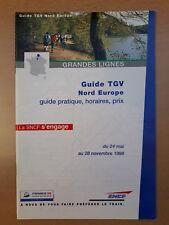 SNCF - Guide TGV Nord Europe (guide pratique, horaires, prix) (été 1998)