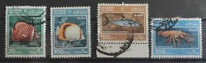 Oman 1985 Marine Life 4 values part set USED Cat £7+