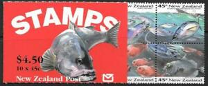 NEW ZEALAND SGSB65 1993 MARINE LIFE  BOOKLET (1752a) MNH