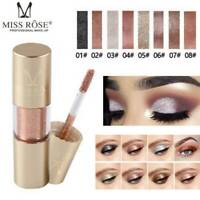 8 Colors Eyeshadow Liquid Waterproof Glow Eyeliner Gel Shimmer Makeup Cosmetics