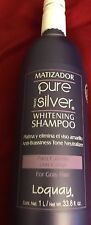 Matizador PURE SILVER Primer LOQUAY Whitening Shampoo 1L/ Net Wt 33.8 Oz