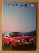 AUDI COUPE S2 1992 UK Mkt Prestige Sales Brochure Prospekt