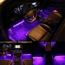 RGB 7Color LED Neon Strip Light Music Remote Control For Car Interior Lighting