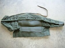 Genuine French military surplus olive drab canvas and leather rifle storage bag