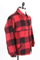 Vintage WOOLRICH Wool Plaid Outdoor Hunting Coat Jacket USA Mens Size Large